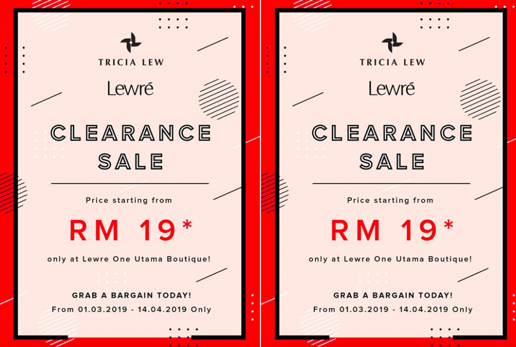 Lewre Mini Clearance Sale from RM19