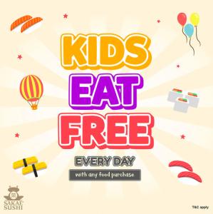 Sakae Sushi Malaysia kids eat free everyday