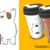 FREE We Bare Bears Cup with Purchase of Milk Tea
