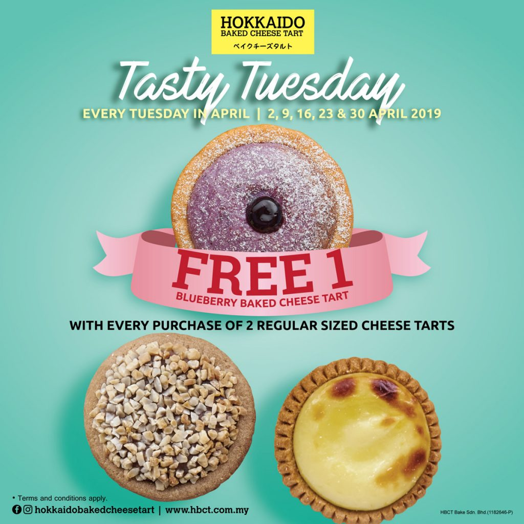 Free Hokkaido Baked Cheese Tart with purchase