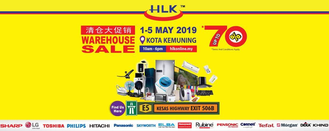 HLK Home and Kitchen Appliances Warehouse Sale Up
