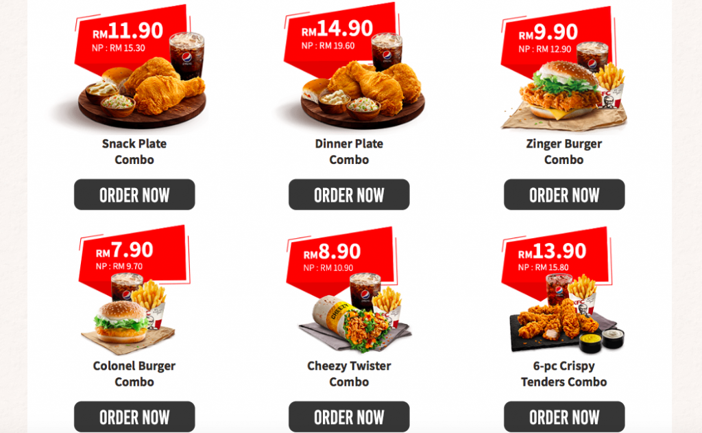 KFC offers Self Collect Deals from RM7.90