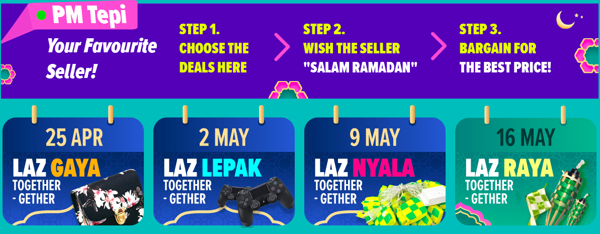 Lazada New Campaign - PM Tepi for Extra Discount during Laz Gaya Together-Gether