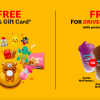 McDonalds Malaysia launches Drive-Thru Weekend With Loads of FREE Gifts and Freebies