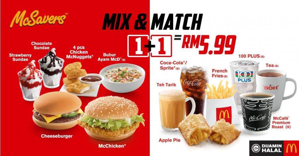 McSavers Mix & Match Malaysia