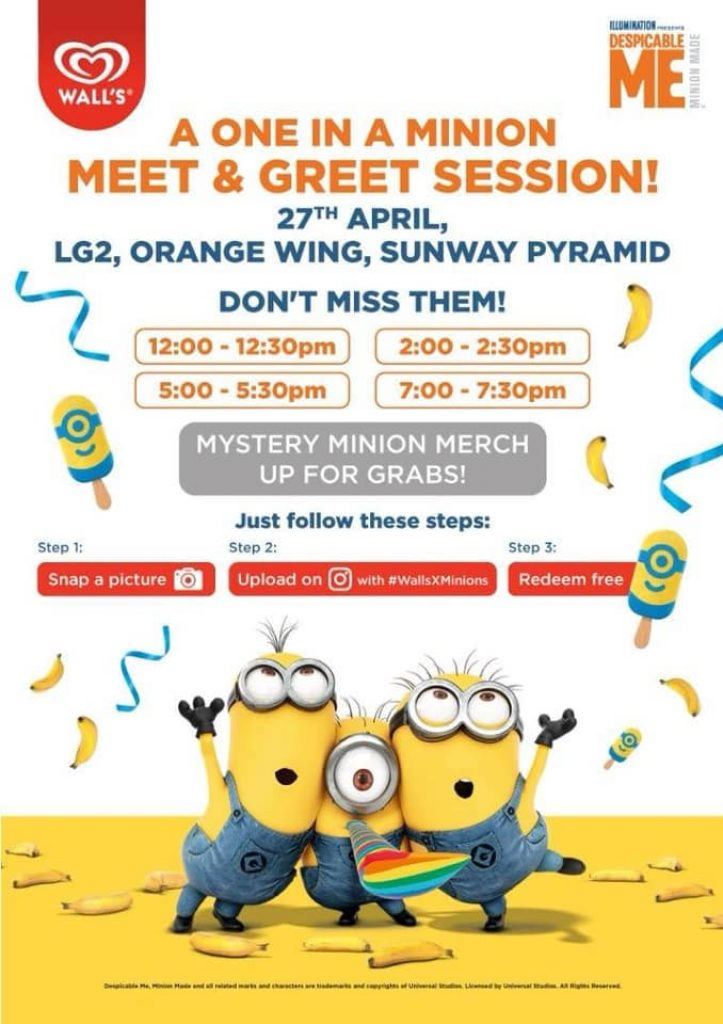 Meet Greet Minions Ice cream