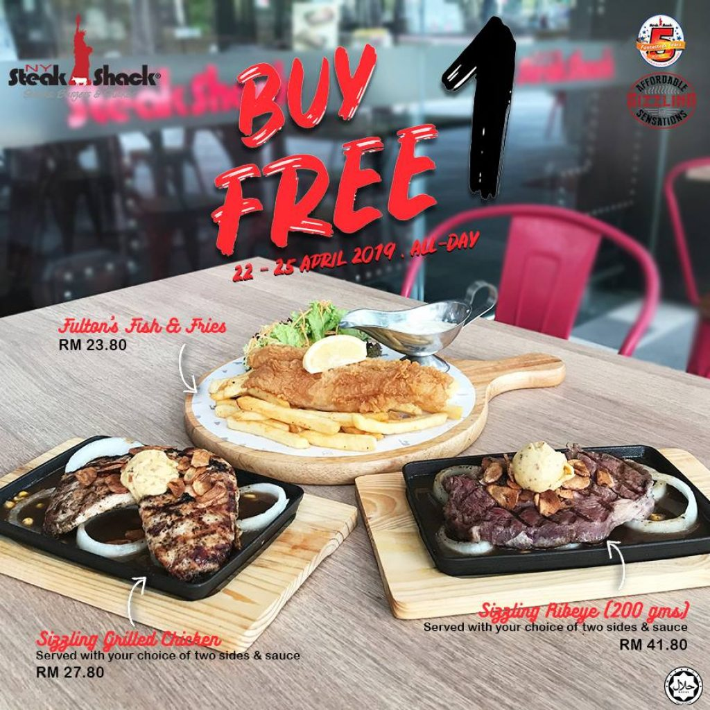 NY Steak Shack is Bringing Back Their Buy 1 Free 1 All Day Promo