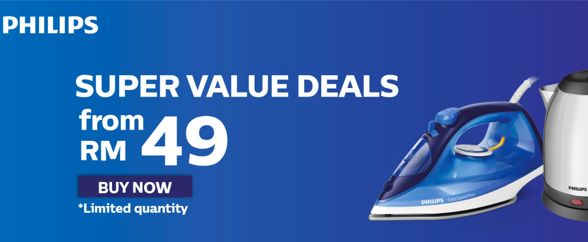 Philips Super Value Deals from RM49 + up to 64% off
