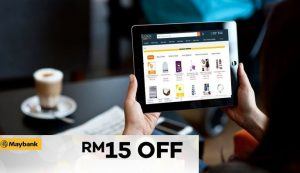 Lazada X Maybank Discount Code - Get RM15 OFF with Maybank Card