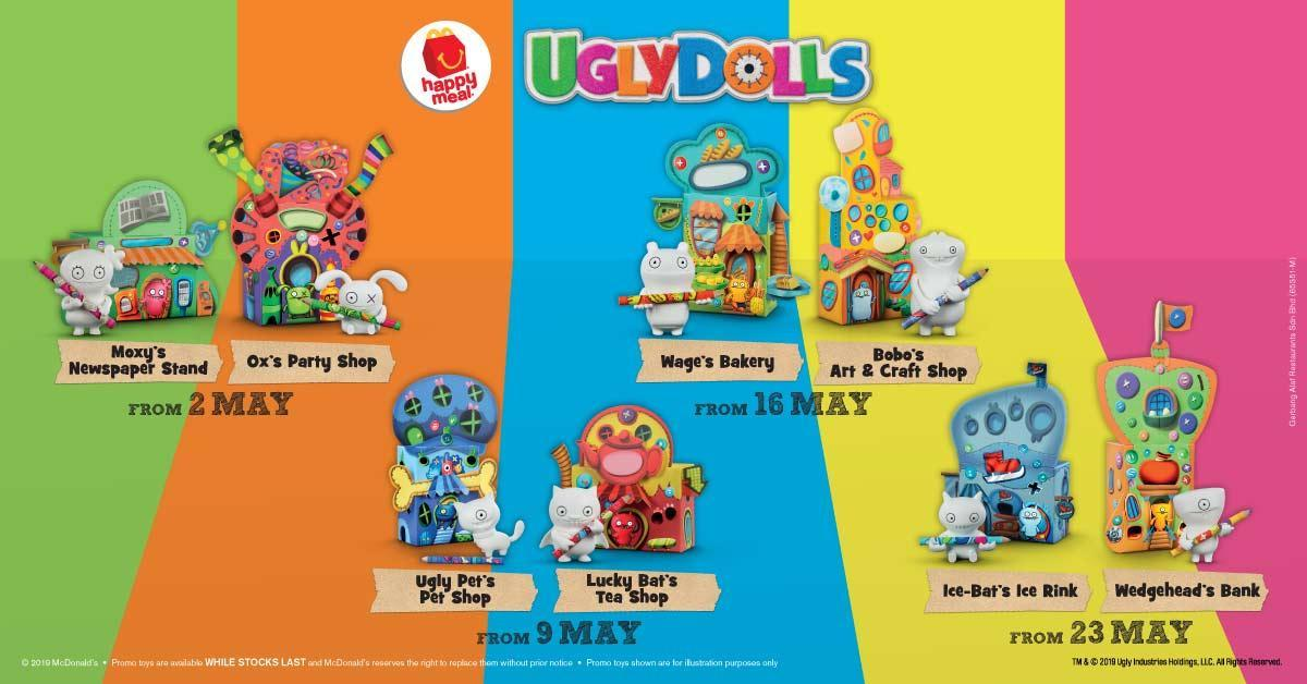 Ugly Dolls Happy Meal Toys Have Arrived at McDonald's Malaysia
