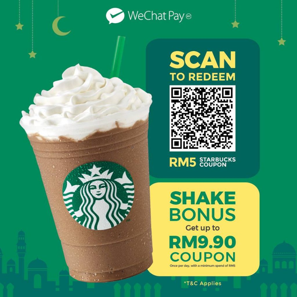 WeChat Pay Malaysia Starbucks Cash Coupon