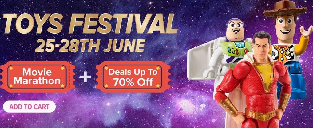 Lazada Toys Festival - Grab Vouchers + Deals up to 70% off