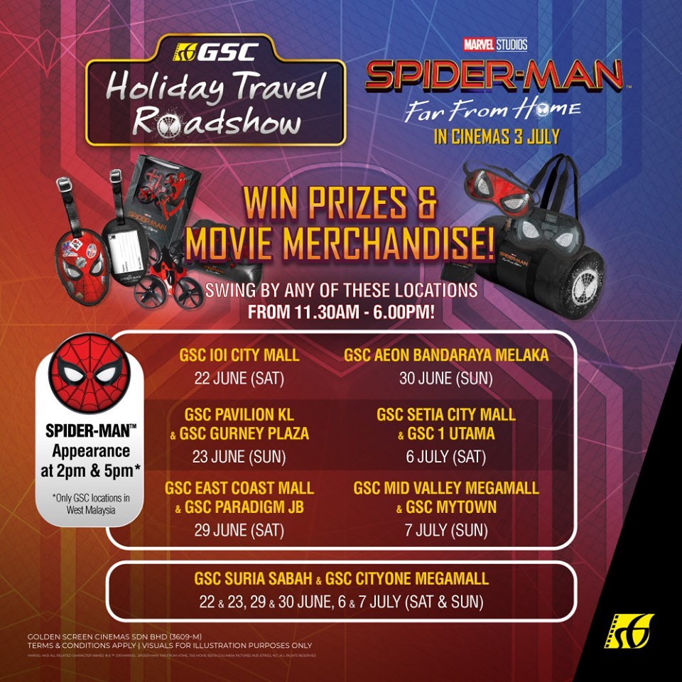 Spider-Man Roadshow - Win Prizes and Movie Merchandise