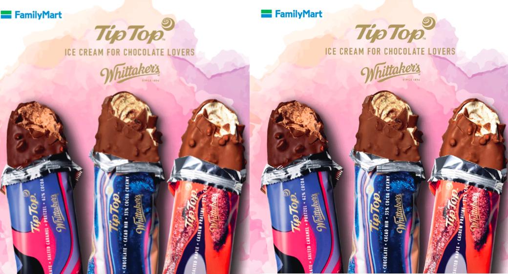 Tip Top XWhittaker'sChocolateIce Cream now available in FamilyMart Malaysia