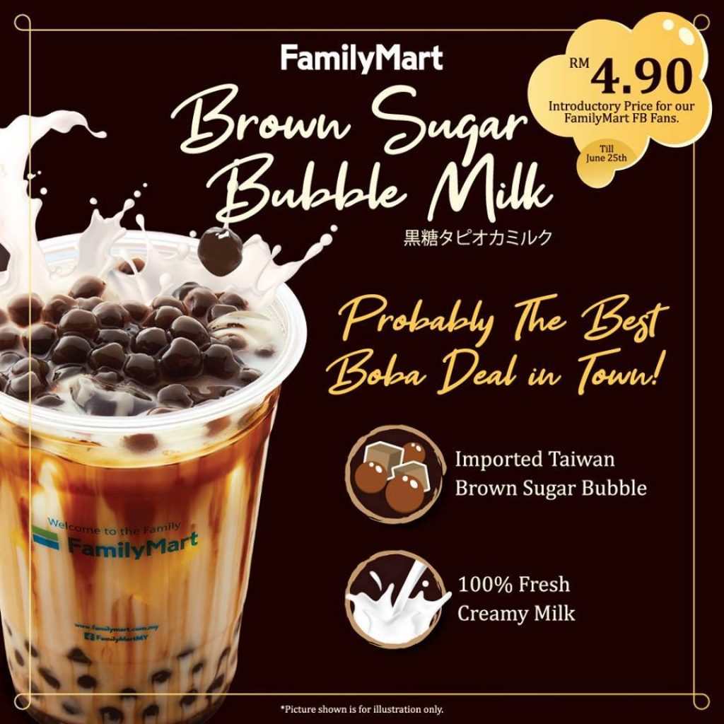 familymart malaysia brown sugar bubble milk
