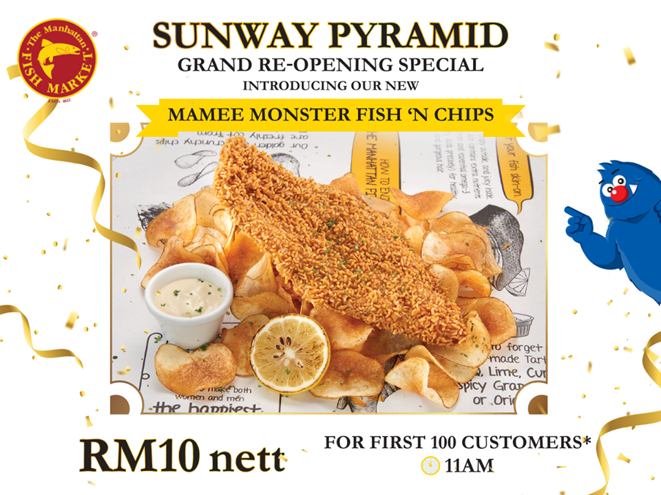 The Manhattan FISH MARKET launches new Mamee Monster Fish 'N Chips