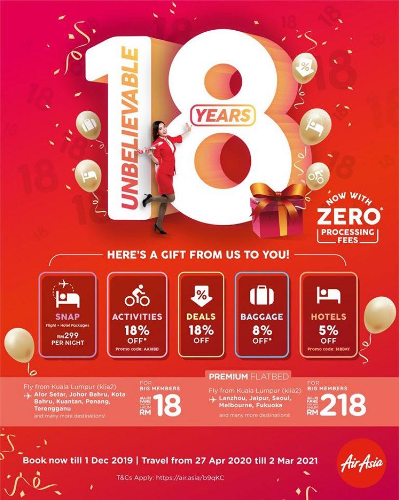 AirAsia Anniversary Birthday Sale