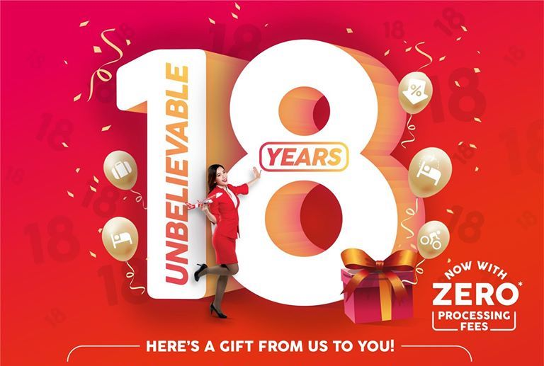AirAsia celebrates Anniversary Sale with all-in fares from RM18 and Discounts