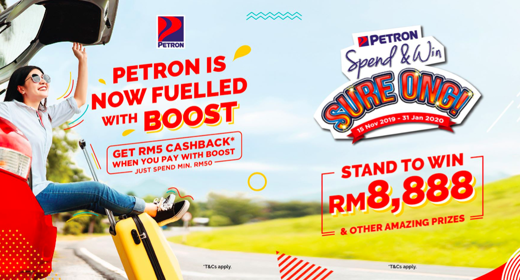 Boost offers RM5 Cashback and Prizes with Petron