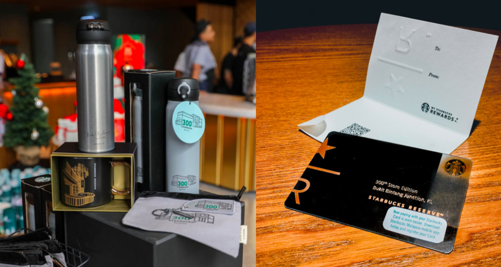 Celebrating Starbucks 300th Store with exclusive merchandise card in Malaysia