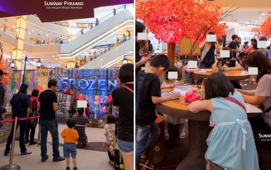 Disney's Frozen 2 Magical Event is happening at Sunway Pyramid now olaf show art craft workshop activities