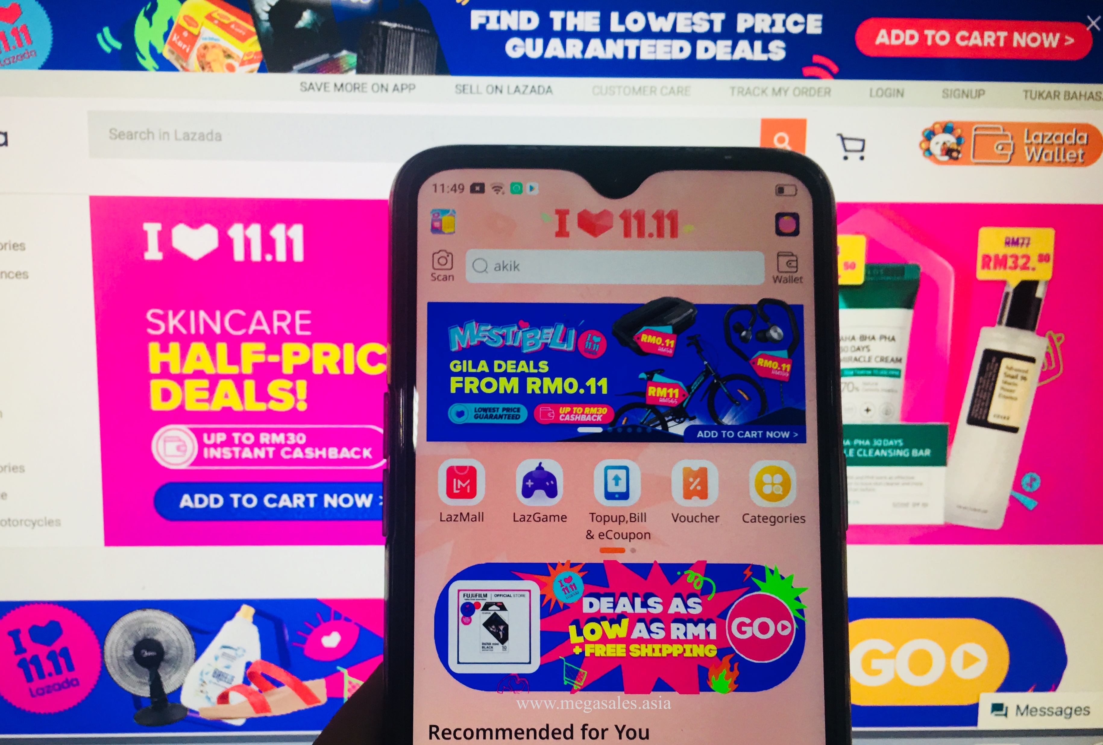 Lazada Malaysia 1111 Mega Offers and Vouchers List