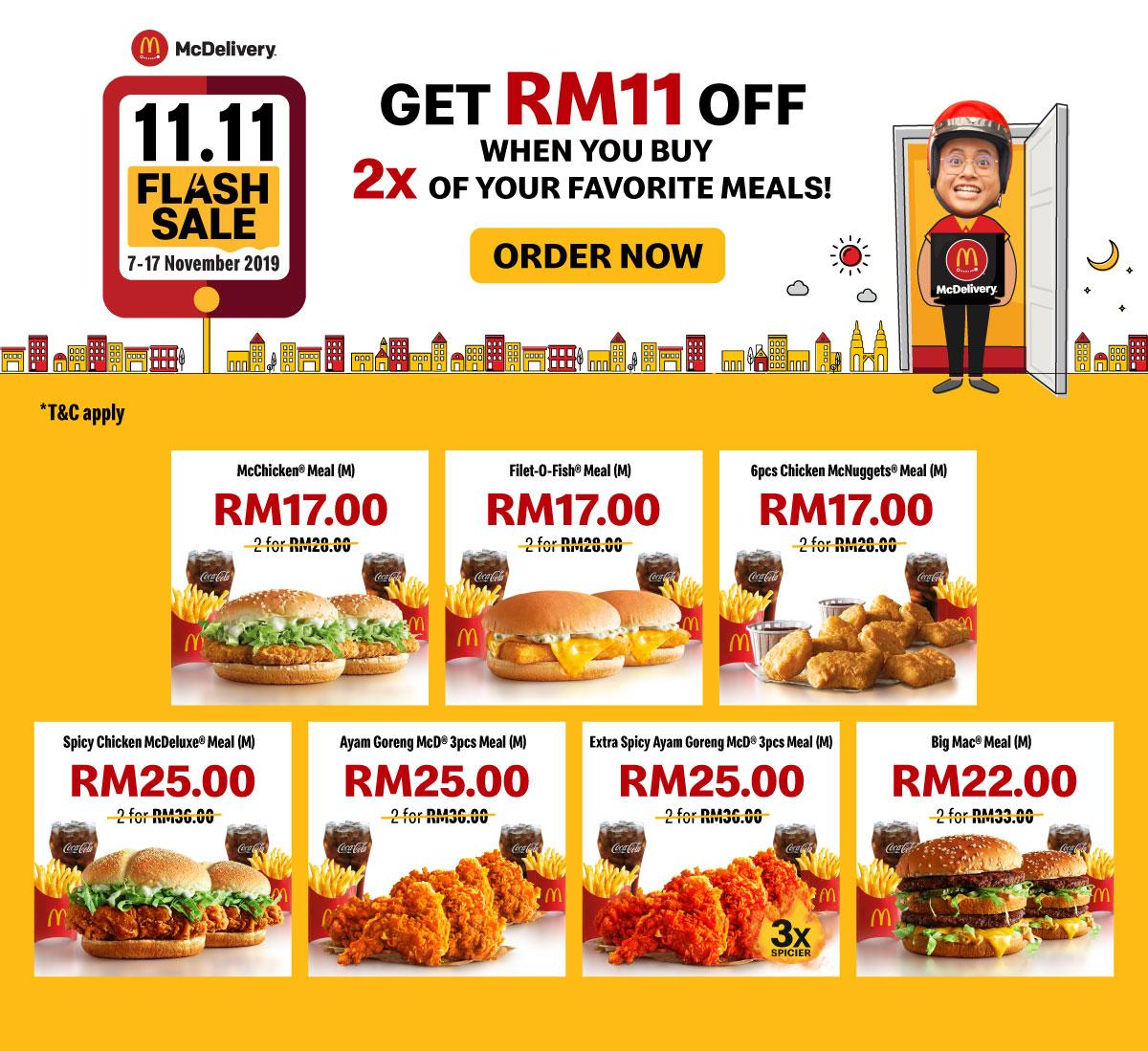 McDelivery Flash Sale 11.11