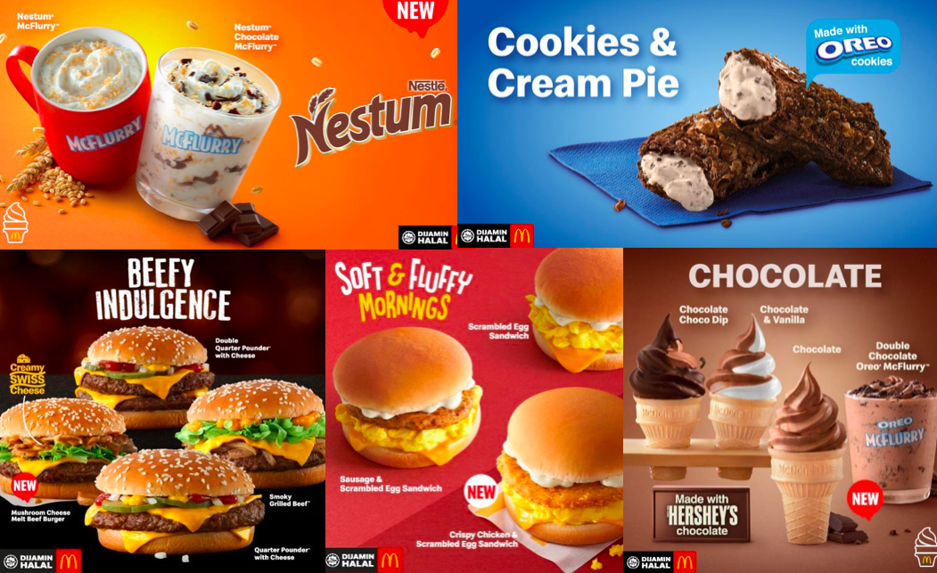 McDonalds Malaysia launches New Menu along with 5 new Deals