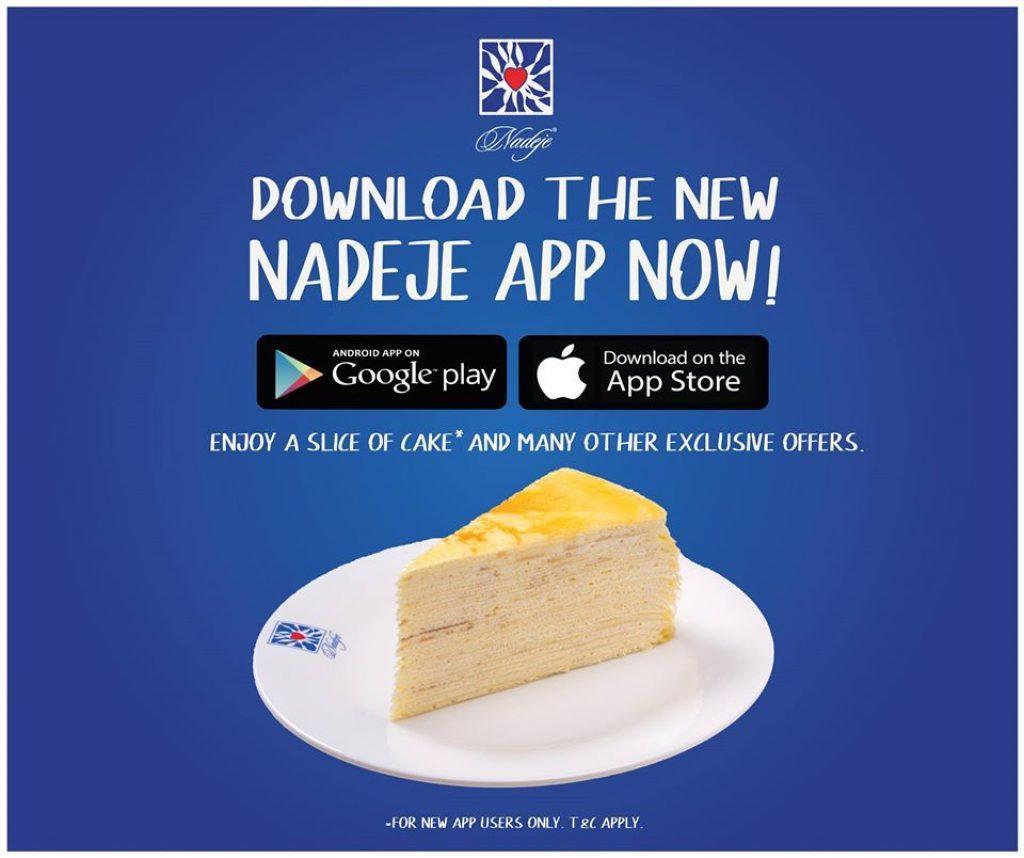 Nadeje Free Cake promotion