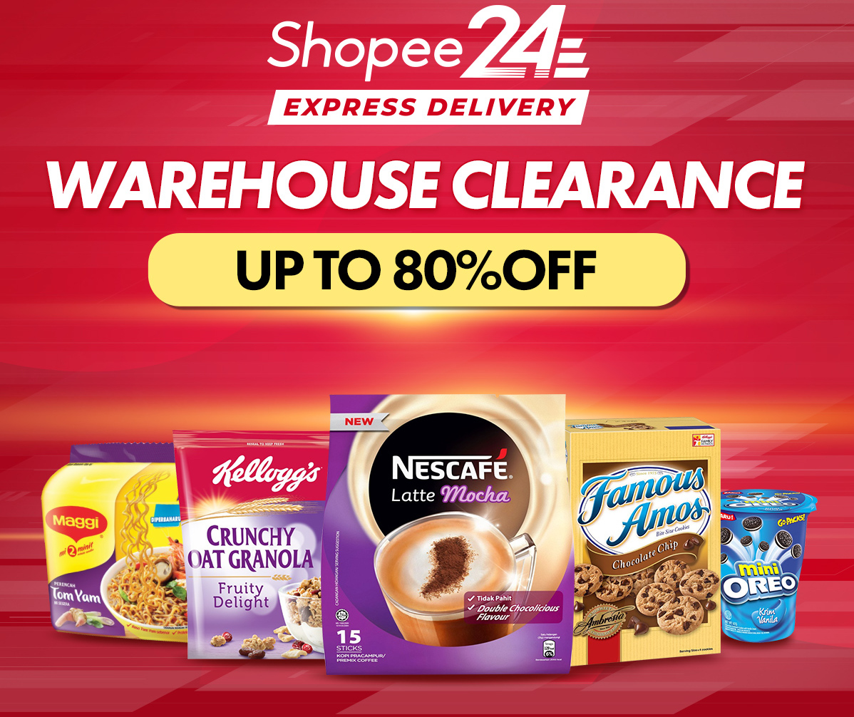 Shopee Warehouse Clearance with discount up to 80% off + 20% off voucher