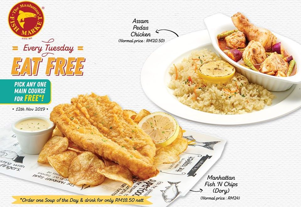 The Manhattan Fish Market is back with Every Tuesday EAT FREE day