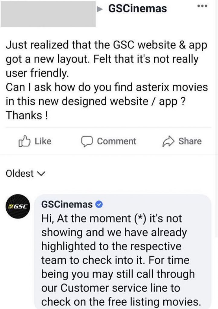 gsc malaysia new website and app complain