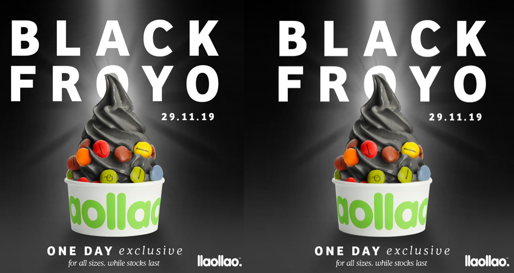 llao llao is bringing you a new Black Charcoal Froyo this Black Friday