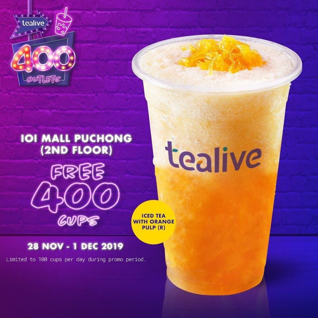 tealive free drinks