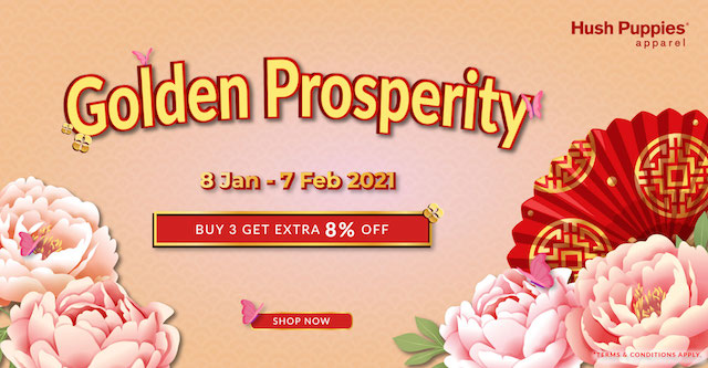 Hush Puppies Apparel e-store Prosperity Vouchers + Extra 8% Discount