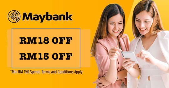 Lazada Maybank Voucher and Promo Code - RM15 OFF | RM18 OFF