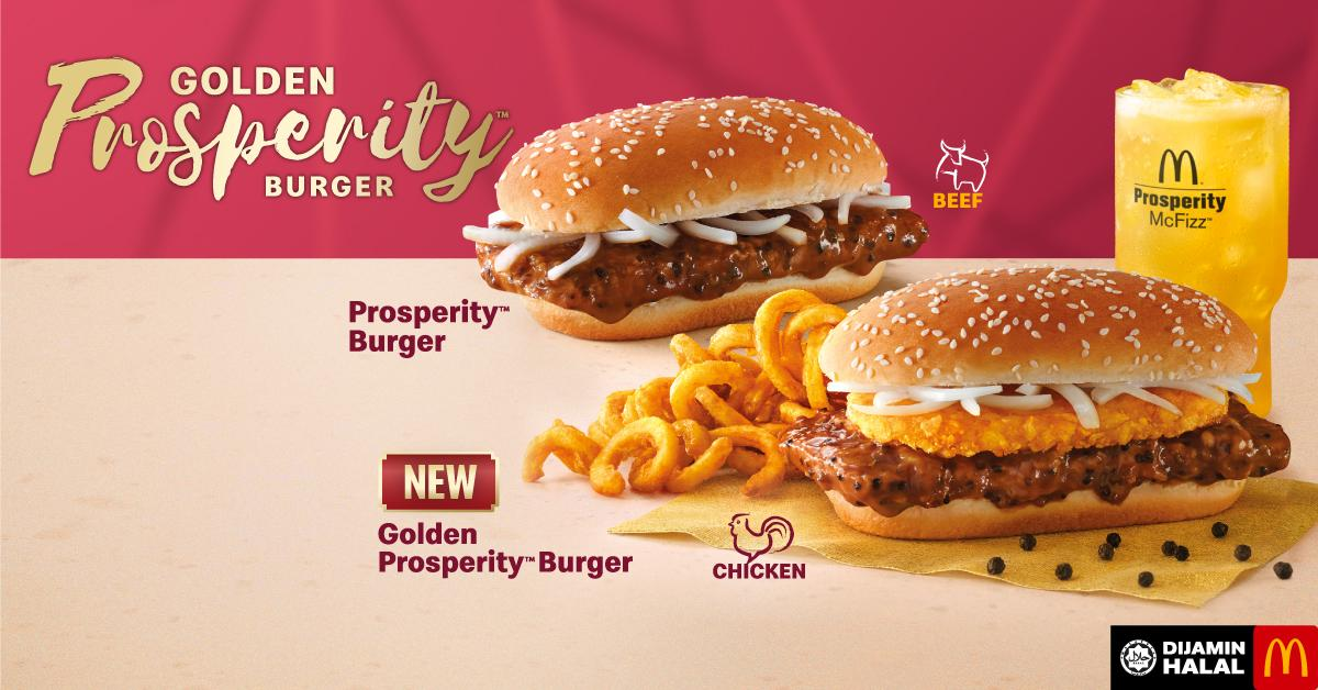 Unwrap golden moments with Golden Prosperity Burger