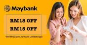 Lazada Maybank Voucher and Promo Code – RM15 OFF | RM18 OFF
