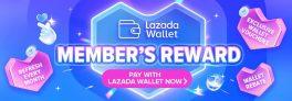 Lazada Wallet Member's Reward Exclusive Rebate Voucher
